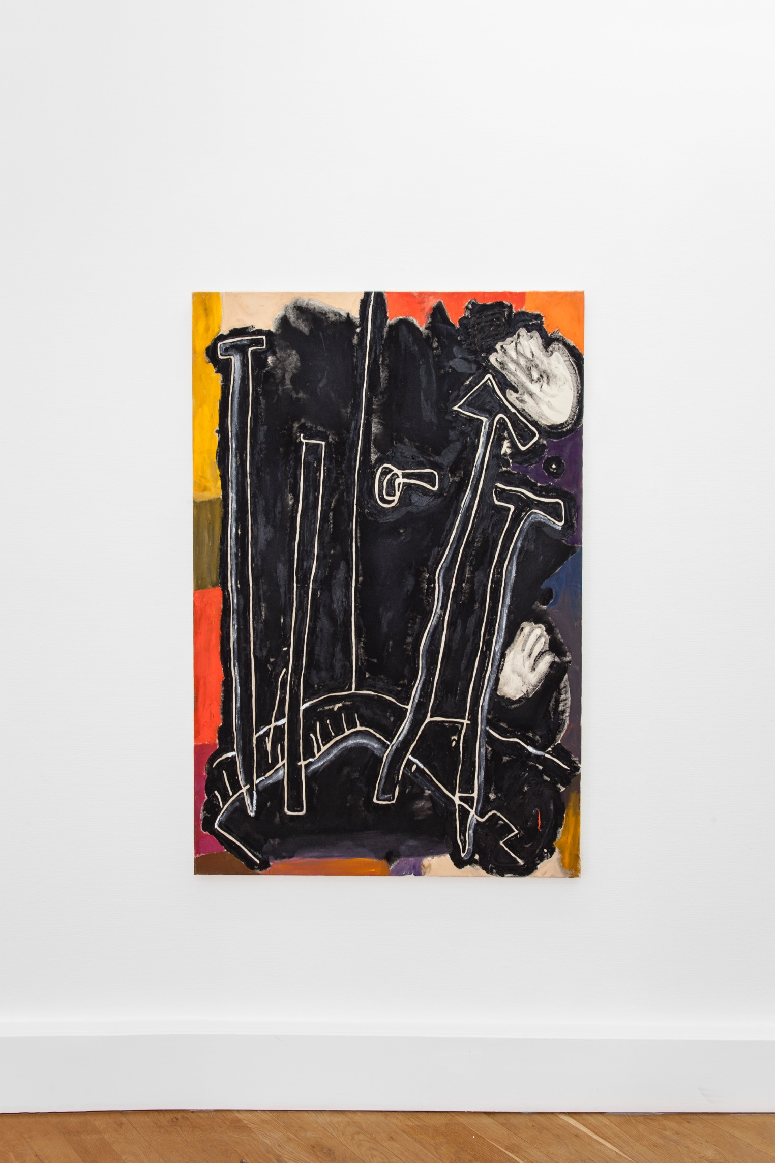 Wolfgang Voegele 3. Jailhouse Dog, oil on canvas, 150x100 cm, 2019