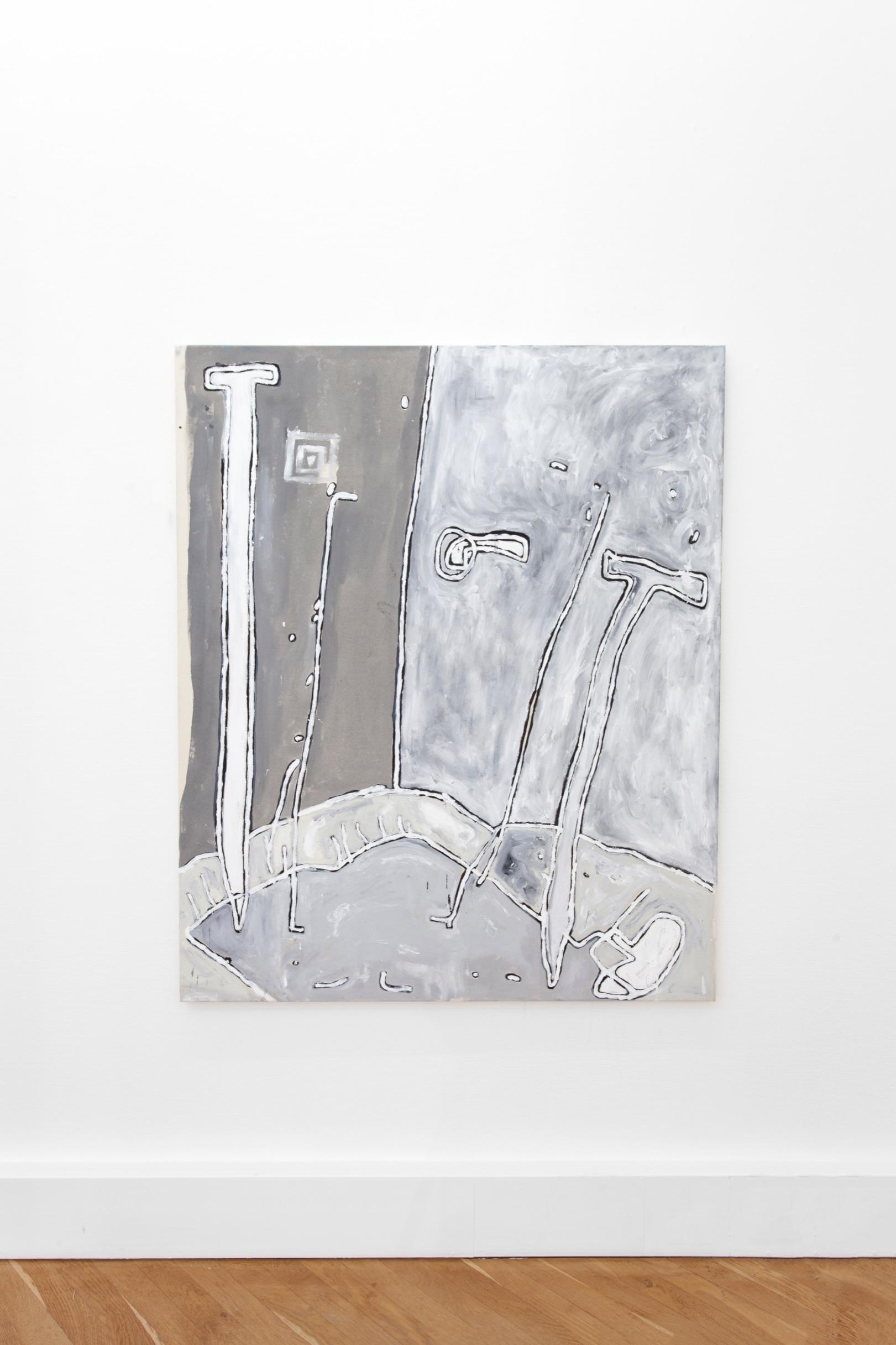 Wolfgang Voegele 7. Tischleben, oil on canvas, 145x120 cm, 2019,