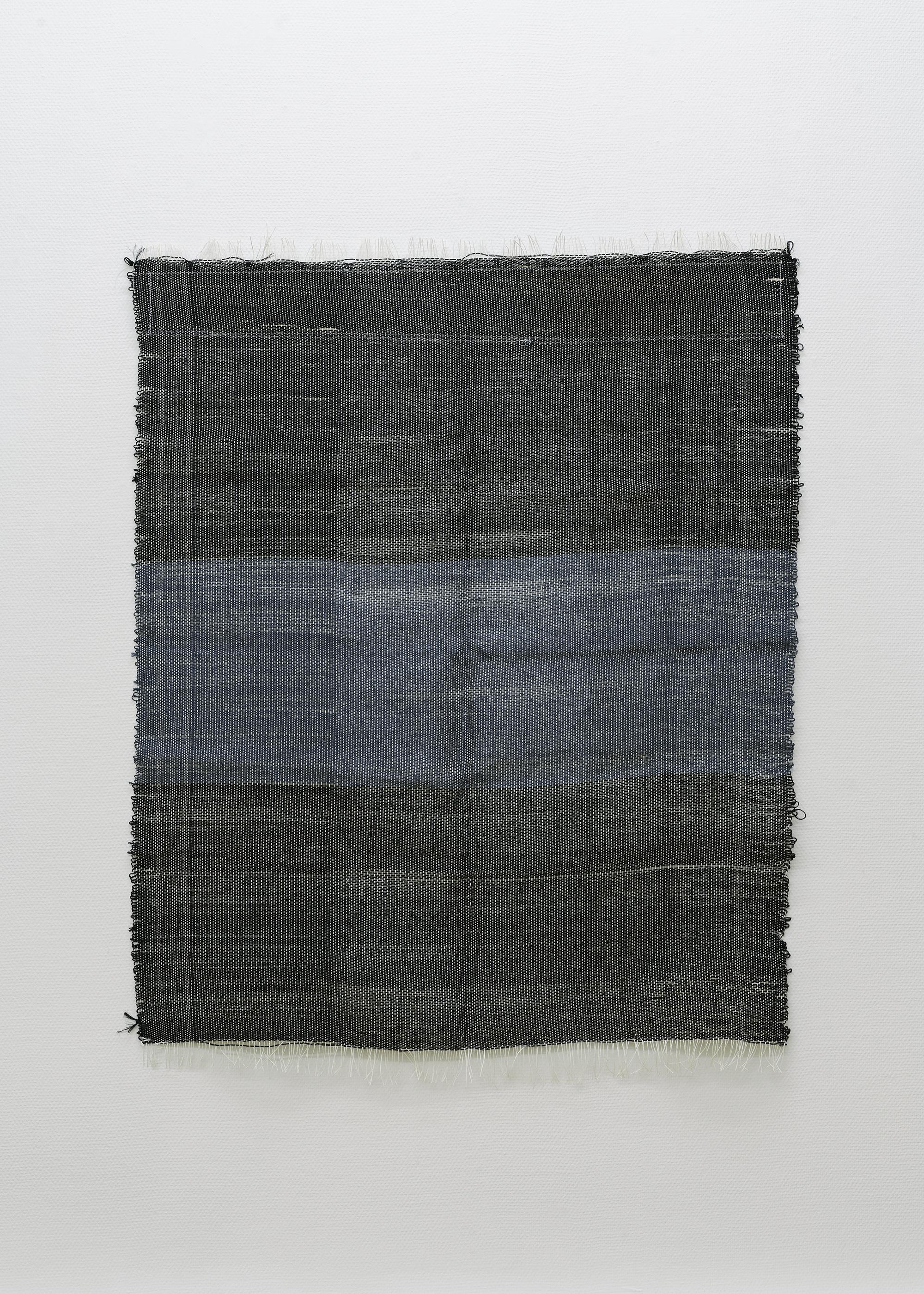 3: Marie Hazard - « noir désir » - Hand woven in paper and linen.. 2020 - 130x100 cm