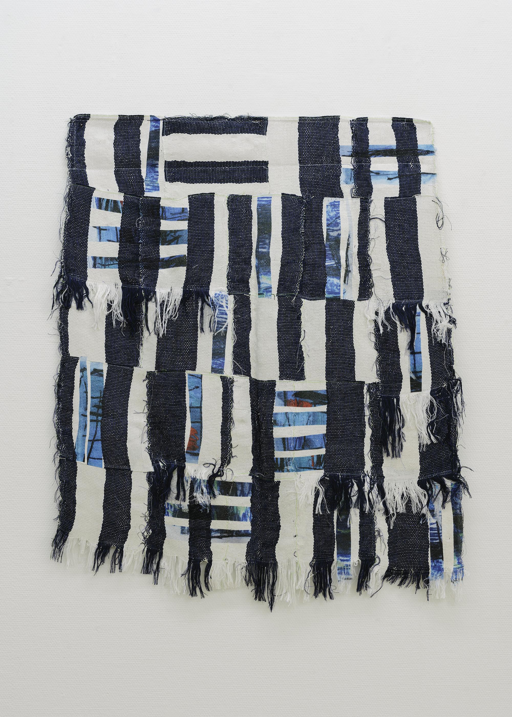 6 Marie Hazard_«à nous dire que tout allait bien»_Hand woven in_paper_polyester and digital print_2020_120x101cm