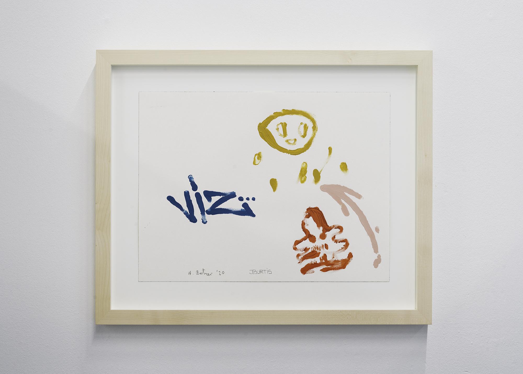 3 Andre Butzer / Jayme Burtis - Untitled, 2020, Acrylic on paper. - 45.72 cm X 60.96 cm. Ex frame